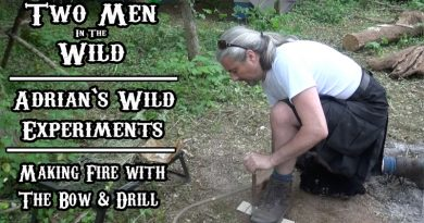 Making Fire with The Bow-Drill